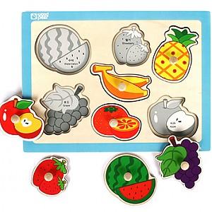 손잡이퍼즐 - 과일